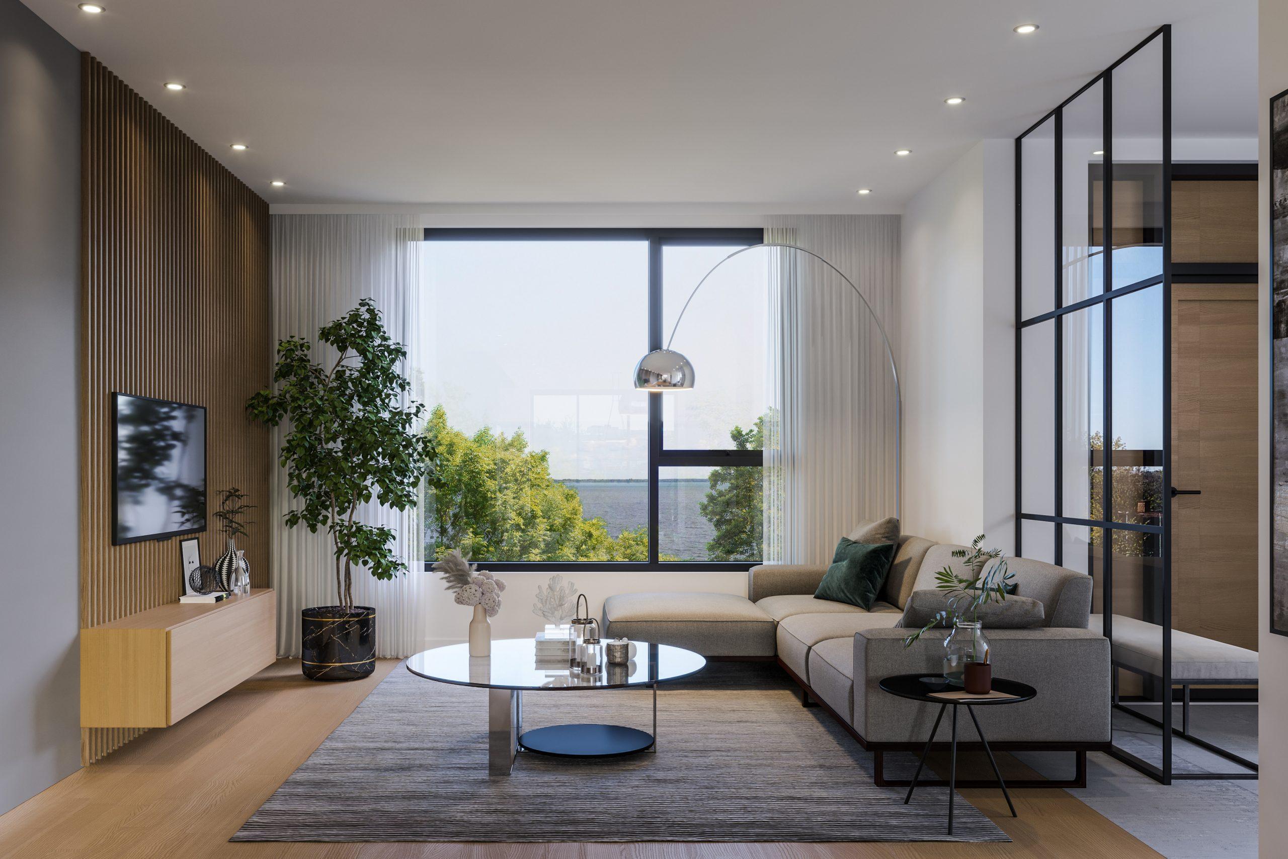 Maison de ville Alepin salon avec vue