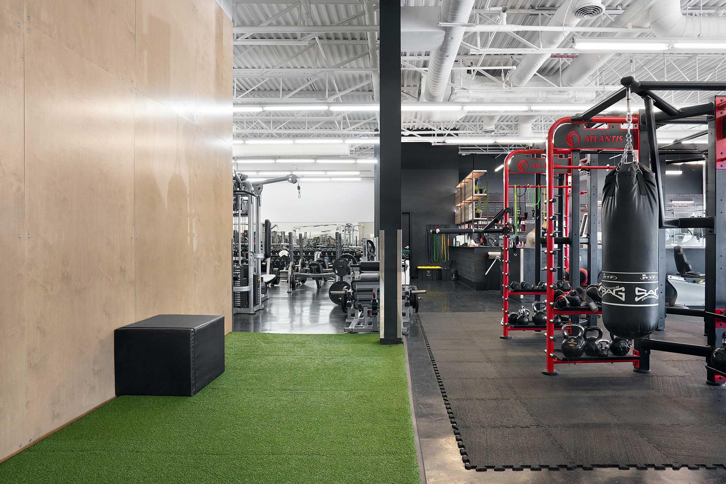 Espace étirement gym prestige